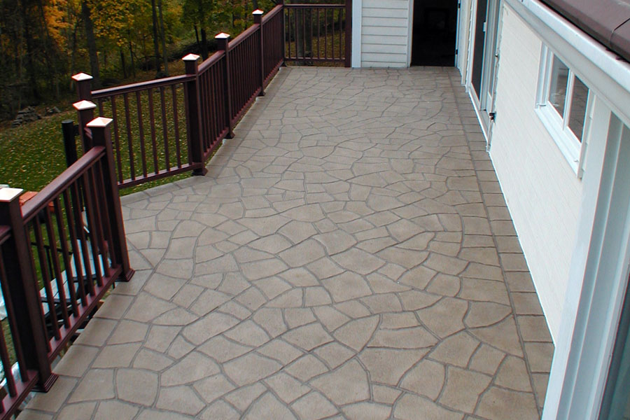 Concrete Elevated Tile Decks Nj Wooden Deck Overlay Nj