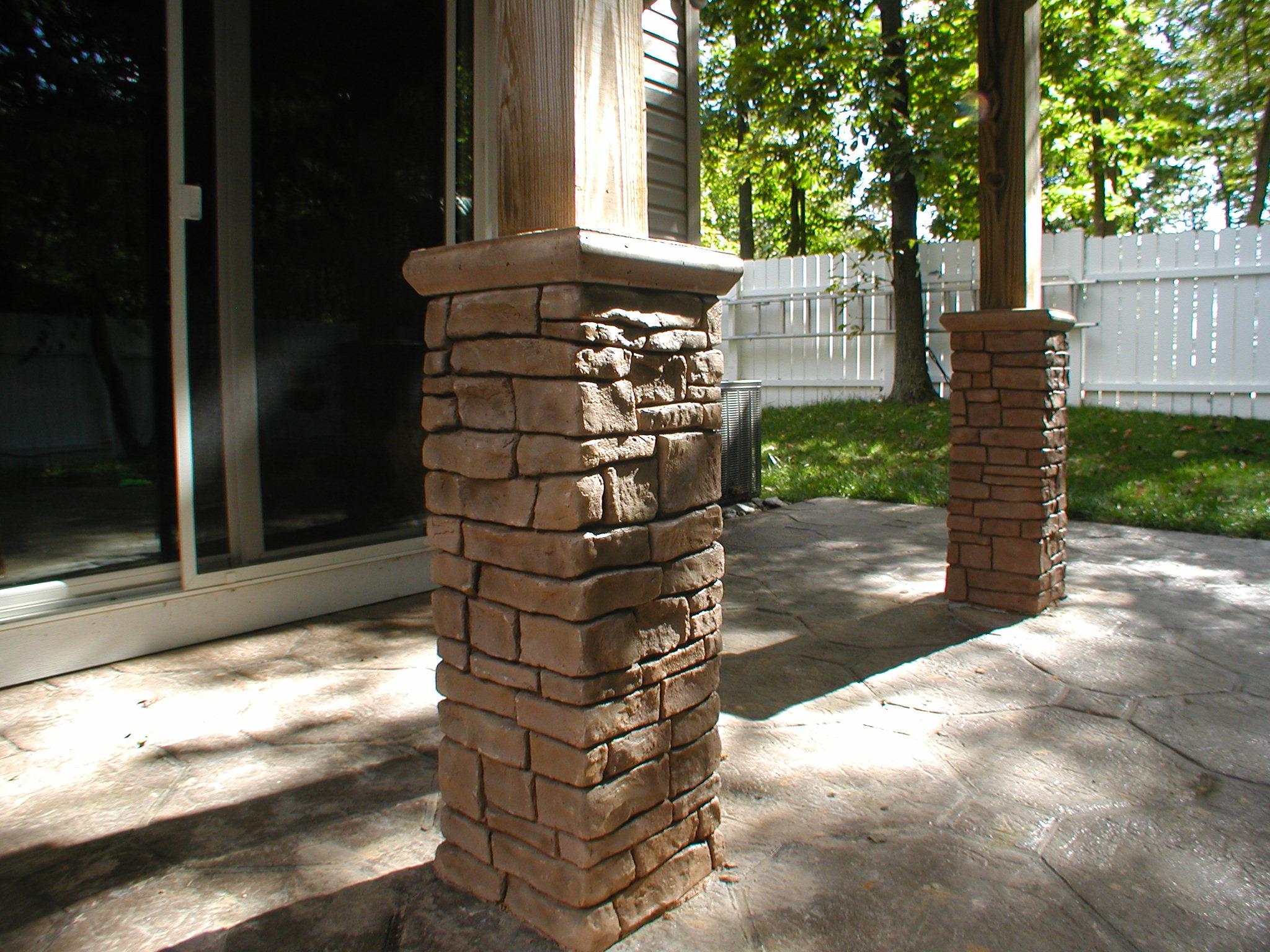 Stone columns boil milk